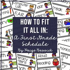 How To Fit It All In: A First Grade Schedule