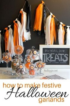 How to Make Festive Halloween Garlands