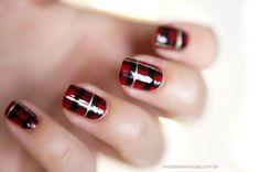 Unhas natalinas   Christmas Nails, Unhas de natal, unhas decoradas http://modaefeminices.com.br/2013/12/14/unhas-natalinas/