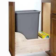 Rev-A-Shelf Natural Wood Series 35 Quart Wood Bottom Mount Waste Container Kit with Blum Tandem Slides Frameless Cabinets, Shelves, Small Drawers, A Shelf, Kitchen Pullout, Rev A Shelf, Kitchen Organization, Storage, Waste Container