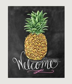 Did you know that the pineapple is a universal symbol for hospitality? It takes center stage in this warm, vibrant print designed to welcome guests