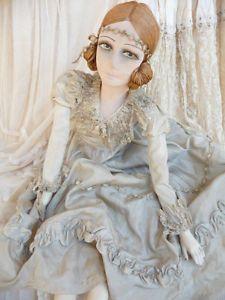 Antique French Boudoir Doll Paris C 1920 Silk Doll Fashion Doll | eBay