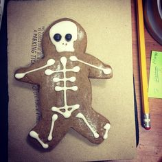 gingerbread skeleton Photo by @happymundane on instagram