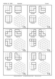 next page → Geometric Drawing, Geometric Shapes, Isometric Drawing Exercises, Isometric Paper, Orthographic Drawing, Geometry Activities, Interesting Drawings, Fabric Postcards, Grid Layouts