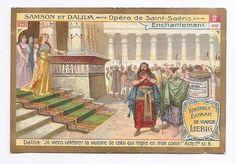 Enchantement - - Samson et Dalila - Opéra Saint Saëns - Chromo Liebig Trade Card