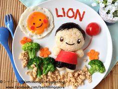 Little Miss Bento  シャリーのかわいいキャラベン: 「ライオン」のCM・フードアート Food Art for LION Commercial