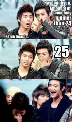 I cracked up, omgaho. How is this funny? XD Jonghyun & Minho SHINee