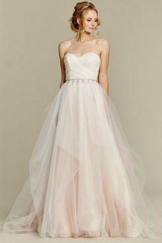 Suitable Sweep/Brush Train A-line Sweetheart Sleeveless Beading Tulle Asian Wedding Dresses