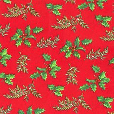 Mid-Century Christmas Paper - Holly by ElectroSpark, via Flickr