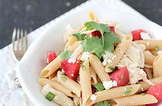 Chicken Pasta Salad with Plums, Feta  Cumin Dressing Recipes