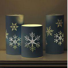 diy snowflake lanterns