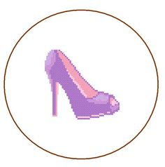 Instant Download Cross Stitch Pattern High Heels by ZindagiDesigns