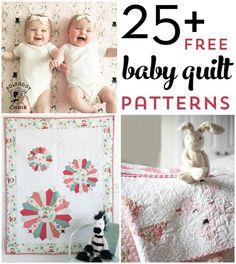 Free Baby Quilt Patterns, Baby Quilt Tutorials, Sewing Patterns Free, Free Sewing, Quilting Patterns, Free Tutorials, Baby Sewing, Applique Patterns, Quilting Tutorials