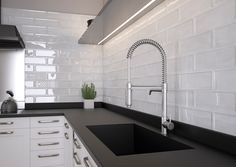 Our stunning Soho range is finished in a lustre glaze, allowing light to reflect adding an air of opulence to any room. Ideal for both Kitchens & Bathrooms! Kitchen Wall Tiles, Ceramic Wall Tiles, Contemporary Tile, Black Kitchens, Home Improvement Projects, Modern Bathroom, Sweet Home, House, Aqua