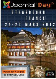 Joomla Day France will be held from March 24 to 2012 from 9 am to 17 pm at the Convention Center in Strasbourg. France 24, Les Themes, Document, Strasbourg, Convention Centre, Extensions, Hold On, Presentation, March