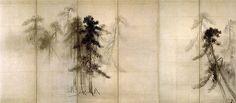 like the background from my shadow-box dream temple: Hasegawa Tōhaku - Pine Trees