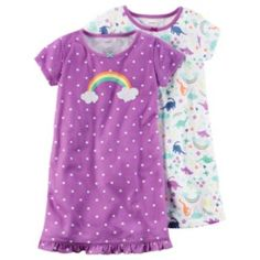 Girls Carter's Print Nightgown Set Carters Baby Clothes, Baby Girl Pajamas, Carters Baby Girl, Toddler Boy Outfits, Baby Kids Clothes, Toddler Fashion, Toddler Girl, Kids Outfits, Kids Fashion