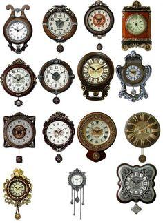 clocks template psd