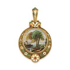 Micromosaic | Micromosaic pendant | Jewelry - Precious Antiques