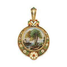 Micromosaic | Micromosaic pendant | Jewelry - Precious Antiques