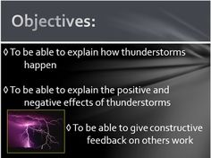 This lesson allows students to study how thunderstorms are formed, the positives and negatives of each part of the storm and to debate whether thunderstorms should be considered a friend or foe. Weather And Climate, Positive And Negative, Thunderstorms, Students, Study, Positivity, Shit Happens, Lightning Storms, Studio