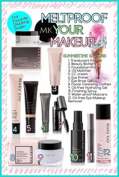 your makeup with Mary Kay. /sandiecruzMeltproof your makeup with Mary Kay. Mary Kay Party, Mary Kay Ash, Mary Kay Cosmetics, Day Makeup, Summer Makeup, Makeup Ideas, Makeup Tips, Perfectly Posh, Maquillage Mary Kay