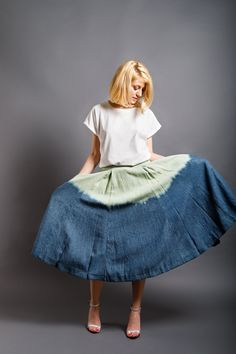 Dip Dye, Midi Skirt, Spring, Skirts, Red, Clothes, Collection, Tops, Design