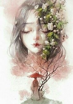 Find images and videos about art, manga and watercolor on We Heart It - the app to get lost in what you love. Chibi Manga, Art Manga, Art Anime Fille, Anime Art Girl, Anime Girls, Character Illustration, Illustration Art, Cover Wattpad, Art Asiatique