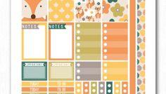Fall Fox Printable Planner Stickers