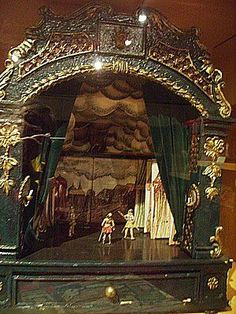 Miniature theater - Miniature theater --- #Theaterkompass #Theater #Theatre #Puppen #Marionette #Handpuppen #Stockpuppen #Puppenspieler #Puppenspiel