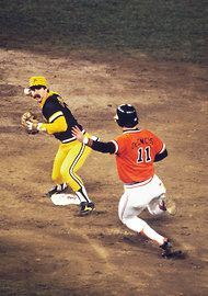 Baltimore Orioles' Doug DeCinces slides into second as Pittsburgh Pirates' second baseman Phil Garner forces an out and prepares to throw to first. Mlb Pirates, Pittsburgh Pirates Baseball, Pro Baseball, Baseball Players, Baseball Cards, Softball, Baltimore Orioles Baseball, 1979 World Series