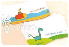 Tarjetas personales infantiles de Cukero Papelería.