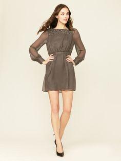 Crystal Rain Beaded Silk Dress by Shoshanna on Gilt.com