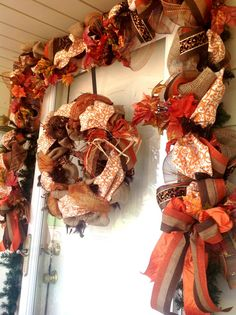 15ft Fall Burlap Garland by RusticLilyDecor on Etsy, $150.00