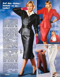 IMG_0410 | thommybegood | Flickr Leather Dresses, Leather Outfits, Leather Skirts, 80s Fashion, Vintage Fashion, Suits For Women, Ladies Suits, Vintage Leather, Peplum Dress