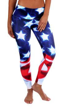 American Flag Leggings Crossfit Yoga USA