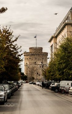 White Tower by Lampros Hms on Macedonia Greece, Greece Thessaloniki, Greek Beauty, Travel Advisory, City Landscape, France Travel, Places To See, Beautiful Places, Amazing Places