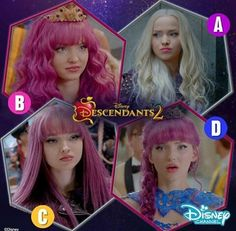 Which Mal hairstyle is your favourite? #Descendants2 I would say my favourite is D