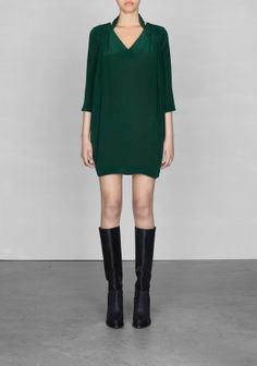 Mulberry silk dress | Green | & Other Stories (€95.00) - Svpply