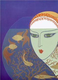 Fish Bowl - Erte