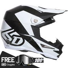 6D ATR-1 Helmet - Wedge Matte White Black