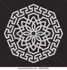 Eight pointed circular abstract floral pattern. Round vector ornament i… Eight pointed circular abstract floral pattern. Round vector ornament in Arabic style. Arabesque, Stencil, Islamic Art Pattern, Decorative Panels, Art Club, Mandala Design, Fabric Painting, Sacred Geometry, Geometric Patterns