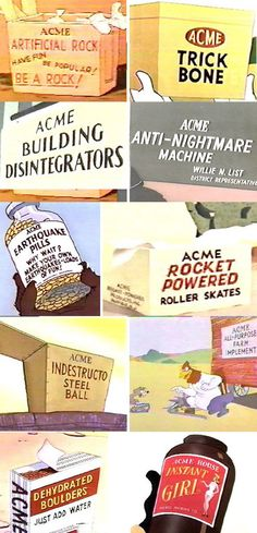 wile e coyote's acme products