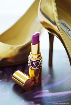 Hiding behind a YSL lipstick – THAT LUXURIOUS FEELING