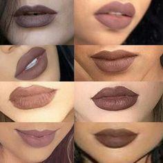Brown lips❤ Goth Makeup, Beauty Makeup, Brown Lipstick, Make Up, Face, Gothic Makeup, Makeup, The Face, Faces