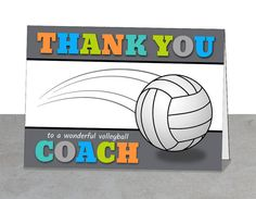 Volleyball Coach Gift, Thank You Coach, Coach Gift Ideas