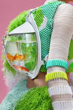 CASSANDRA VERITY GREEN - I love the designs, the colours, the textures - but the use of living animals cannot be condoned.