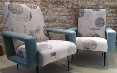 Blue Patch Collection: Johanna Retro Chairs from The London Chair Collective