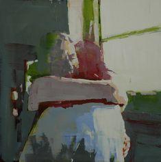 "Mark Horst embrace no.5  18"" x 18"", oil on canvas. 2011"