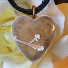 Handmade Crystal-Glazed Ceramic Pendant with Ribbon Necklace by Chiron Creations